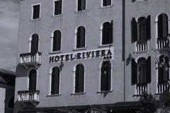 Hotel Riviera a Venezia Italia immagini stock