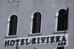Hotel Riviera a Venezia Italia fotografia stock