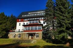 hotel Rixi, autumn scenery in the vicinity of Železná Ruda, Czech republic Stock Image