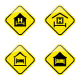 Hotel road sign. Simple illustration of hotel road sign vector illustration