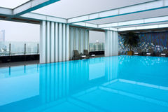 Hotel roof swimming pool Stock Photos