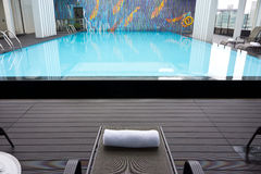 Hotel roof swimming pool Stock Photo