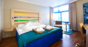 Hotel room. Interior of a hotel room royalty free stock image