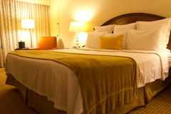 Hotel Room. Interior of a modern luxury hotel room Royalty Free Stock Photo
