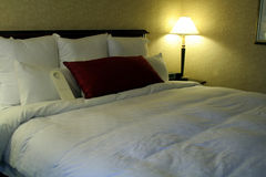 Hotel Room. This is an image of a hotel room bed stock images