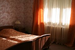 Hotel room. Hotel room with sunlight in the morning or in the daytime Stock Images