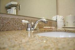 Hotel Room 6. Close up of Bathroom Counter (Horizontal royalty free stock photos