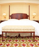 Hotel room. Nice hotel room with nice bed and lamps Royalty Free Stock Photography