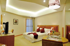 Hotel room. Modern style of the decoration of the hotel rooms Stock Photos