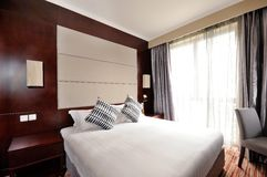 Hotel room. Modern style of the decoration of the hotel rooms Stock Images