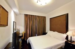 Hotel room. Modern style of the decoration of the hotel rooms Stock Photography