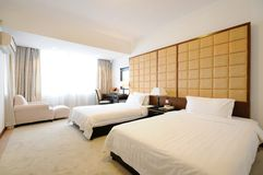Hotel room. Modern style of the decoration of the hotel rooms Stock Photo