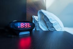 Hotel Room Alarm Clock Royalty Free Stock Photography