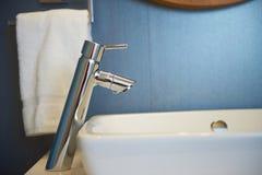 Hotel room bathroom Stock Photo