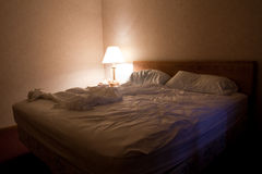 Hotel Room bed Stock Images