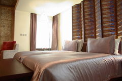 Hotel room or bedroom Stock Images