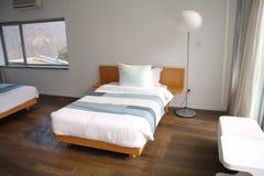 Hotel room or bedroom Stock Photo