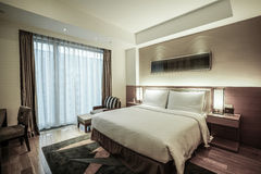 Hotel room or bedroom Interior. Royalty Free Stock Image