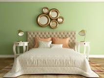 Hotel room, bedroom interior, modern room Royalty Free Stock Photo