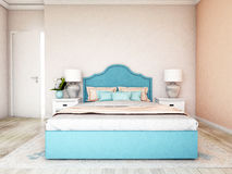 Hotel room, bedroom interior, modern room Stock Images