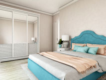 Hotel room, bedroom interior, modern room Stock Photos
