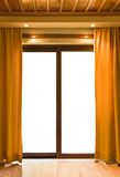 Hotel room and blank window Royalty Free Stock Photography