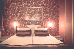 Hotel room at a brothel furnished modern where men hiring prostitutes Royalty Free Stock Photo