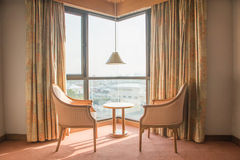 Hotel room corner Royalty Free Stock Images