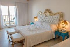 Hotel room. At creta hotel at chersonisos stock image