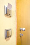 Hotel room door and lights electronic card Stock Photo