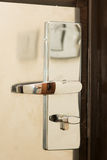 Hotel room doorlock Royalty Free Stock Photo