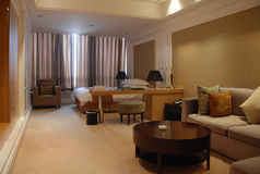 Hotel room. Of a five star hotel in Wuxi, China Royalty Free Stock Images