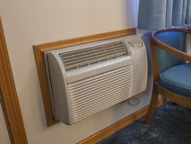 Hotel room heater and air conditioner Royalty Free Stock Photos