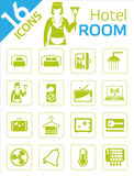 Hotel room icons. Hotel and motel room icons Royalty Free Stock Image
