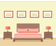 Hotel room interior. Royalty Free Stock Images
