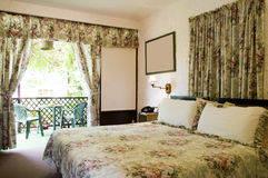 Hotel room interior with garden view St. Lucia Stock Image