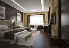 Hotel Room Interior Royalty Free Stock Photography