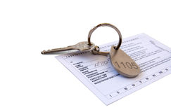 Hotel room key Stock Image