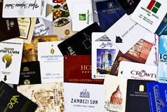 Hotel Room Keys Royalty Free Stock Photography