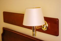 Hotel-Room Lamp stock photos
