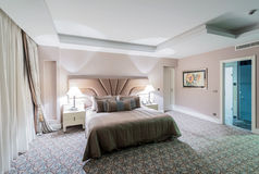 Hotel room with modern interior Royalty Free Stock Image