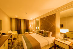 Hotel room with modern interior Royalty Free Stock Photography