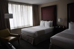 Hotel Room with modern interior Stock Photos