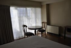 Hotel Room with modern interior Royalty Free Stock Photo