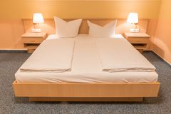 Hotel room with modern interior. stock photo