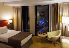 Hotel room at night Royalty Free Stock Photos