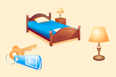 Hotel room objects Royalty Free Stock Image