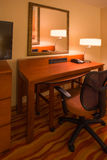 Hotel Room Office Desk Stock Image