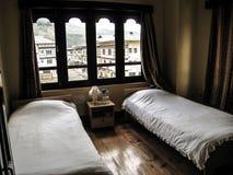 Hotel Room in Paro - Bhutan. A Hotel Room overlooking Paro - Bhutan Stock Photo