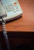 Hotel room phone Stock Photo